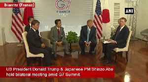 US President Donald Trump meets Japanese PM Shinzo Abe [Video]