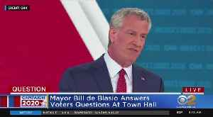 Mayor De Blasio Takes Part In Town Hall [Video]