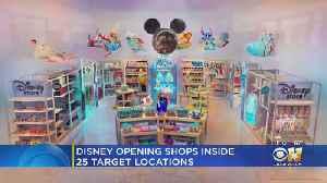 News video: Disney Putting Dozens Of Shops Inside Target Stores