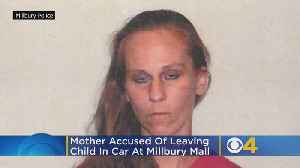 Officer Smashes Window After Child Left In Car At Millbury Mall; Mother Arrested [Video]