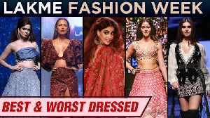News video: Best And Worst Dressed | Kangana Ranaut, Kareena, Malaika, Disha, Ananya | Lakme Fashion Week 2019