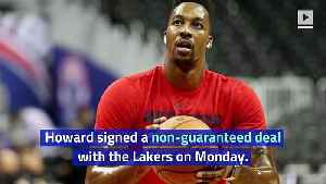 Dwight Howard Officially Rejoins Lakers [Video]