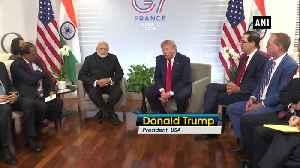 News video: G7 Summit PM Modi feels he has Kashmir situation under control Donald Trump