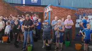 Bury takeover: Fans clean up Gigg Lane as club hopes to complete sale [Video]