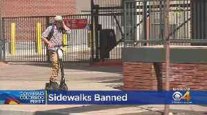 E-Scooters Banned From Sidewalks In Denver [Video]