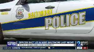 Officer shot at in West Baltimore on Monday [Video]