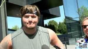 Web Extra: Offensive lineman Calvin Throckmorton on matchup against Auburn's D-line [Video]