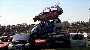 UK hosts car-jumping championships [Video]
