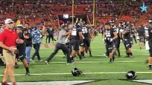 News video: Hawaii defense stops Arizona at 1-yard line to preserve win