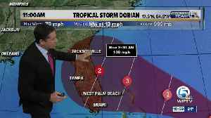 Wednesday 11 a.m. Update: Dorian could become Category 3 hurricane [Video]