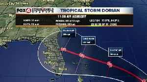 Tropical Storm Dorian -- 11am Wednesday Update [Video]