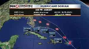 Hurricane Dorian -- 2pm Wednesday Latest [Video]