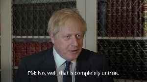 Boris Johnson denies holding Queen's Speech to stop Brexit debate [Video]