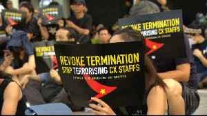 Hong Kong protesters slam Cathay Pacific over sackings [Video]
