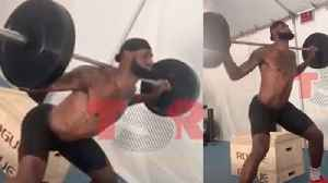 Lebron James Gets ATTACKED By Twitter Trolls Who Claim His Squat Form Is TRASH [Video]