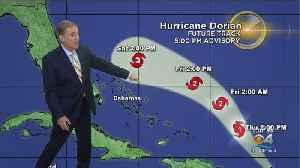 5 PM ADVISORY: Hurricane Dorian Getting Stronger [Video]