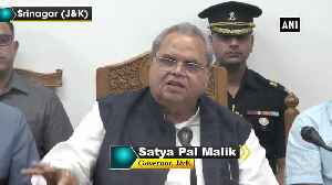 JK Governor Satya Pal Malik announces 50,000 jobs [Video]