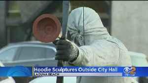 Hooded Figures Outside Laguna Beach City Hall Turning Heads [Video]