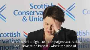 News video: Ruth Davidson: Professional and personal changes prompt resignation with a 'heavy heart'