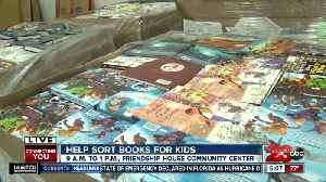 Help sort and box books for thousands of local children in low-income communities [Video]