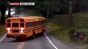Video Shows Crash Between School Bus, Motorcycle in Pennsylvania [Video]