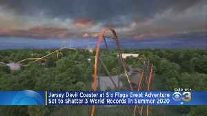Thrill Seekers Eagerly Awaiting Debut Of Six Flags' Jersey Devil Roller Coaster [Video]