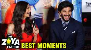 Sonam Kapoor And Dulquer Salmaan BEST MOMENTS From The Zoya Factor Trailer Launch [Video]