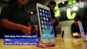 Apple to Supply Parts to Third-Party Repair Shops [Video]