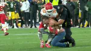 Shirtless fan running on field gets laid out by Chiefs player in Packers preseason game [Video]