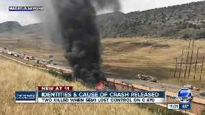 CSP says semi-truck's tire blew out before deadly C-470 crash; victims identified [Video]