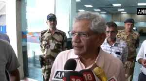 Sitaram Yechury returns from Kashmir after meeting CPI(M) leader Tarigami [Video]