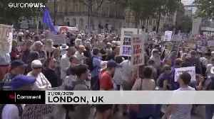 London protest against UK parliament suspension [Video]