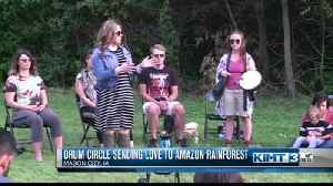 Lime Creek Nature Center group sending good vibes to rain forest [Video]