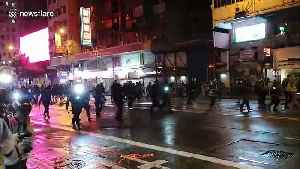 Hong Kong police use water cannon in Causeway Bay area on Saturday [Video]