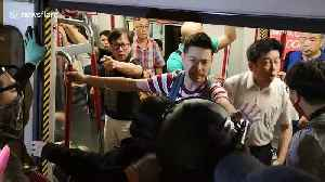 Fight in Hong Kong metro before riot police raid on Saturday [Video]