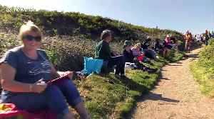 Mass painting world record attempt at Land's End in the UK [Video]