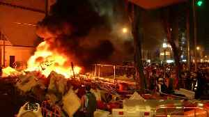 Protests turn fiery in Hong Kong [Video]
