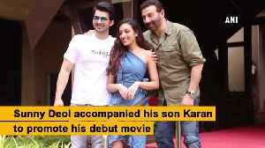 Dad Sunny Deol promotes son Karan Deol's movie in Mumbai [Video]