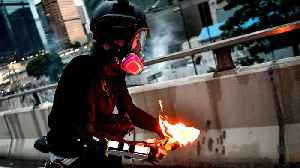 Hong Kong protesters tear-gassed after clashes with police [Video]