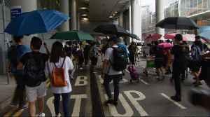 Hong Kong protesters disrupt airport again [Video]