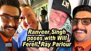 Ranveer Singh poses with Will Ferell, Ray Parlour [Video]