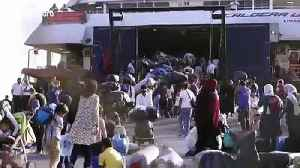 Asylum seekers overflow Aegean islands and are being transported to mainland Greece [Video]