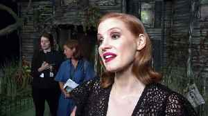 Jessica Chastain hits out at IT co-star Bill Hader! [Video]