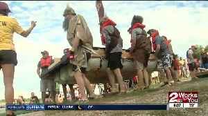 Tulsa's Great Raft Race down the Arkansas River [Video]