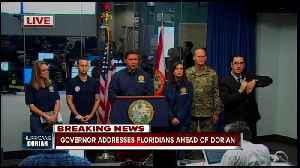 Press Conference: Gov. Ron DeSantis gives updates on Dorian preparations in Florida -- 10am Monday [Video]