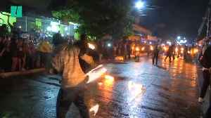 Salvadorians Throw Fireballs At Each Other In Town Tradition [Video]