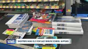 Shoppers head out for last minute school supplies [Video]