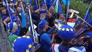 Tensions mount between pro and anti-Brexit protesters in Westminster as Tories suffer critical defeat in Parliament [Video]