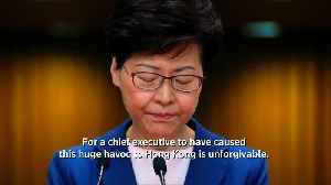 Lam says never discussed resigning with Beijing [Video]