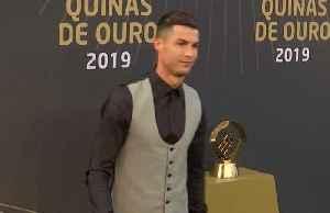 Cristiano Ronaldo named player of the year at Quinas Awards [Video]